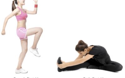 Stretching dopo attività fisica.